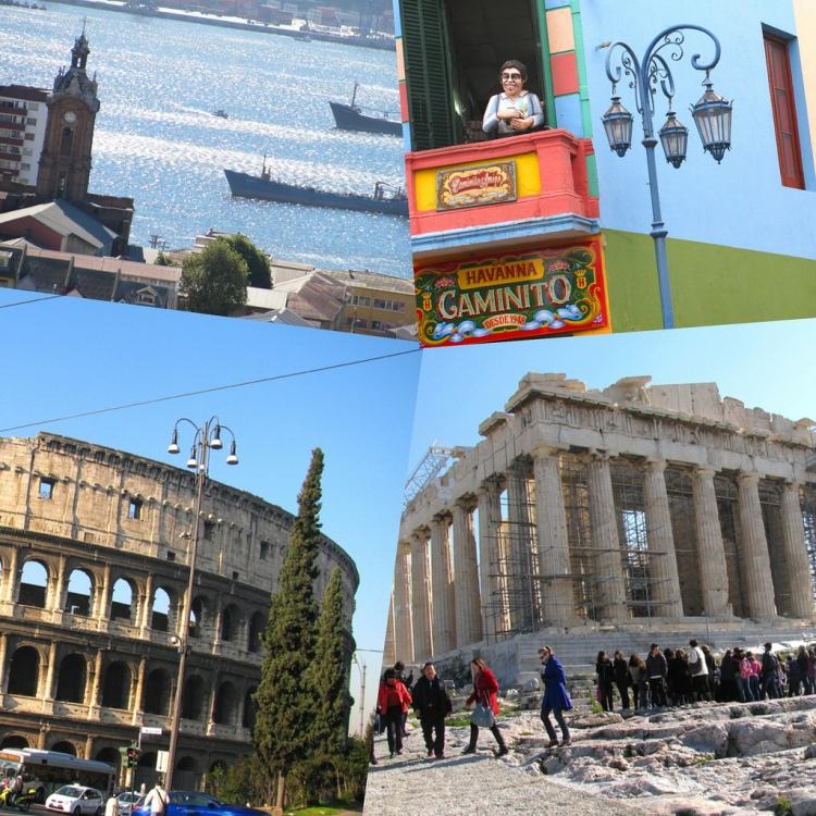 Valparaíso, Buenos Aires, Roma, Atenas