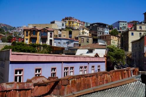 Cerro Alegre visto desde el tercer piso de Cámara Lúcida